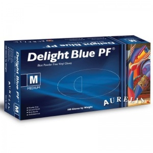 Aurelia Delight Blue PD Vinyl Gloves