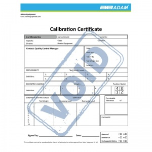 Adam Equipment Calibration Certificate