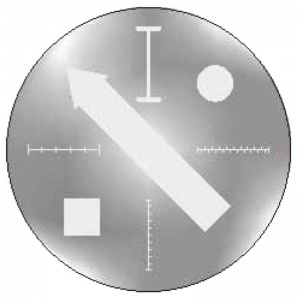 Geometrical Objects on Glass Plate