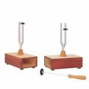 440Hz Pair of Tuning Forks on Resonance Boxes