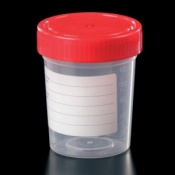 Polypropylene 150ml Container with Cap and Printed Label