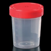 Polypropylene 125ml Container with Cap No Label